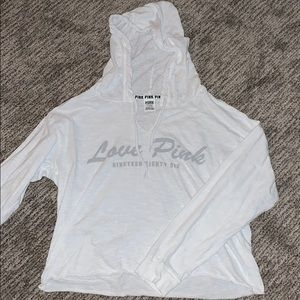 PINK brand white short pullover/shirt